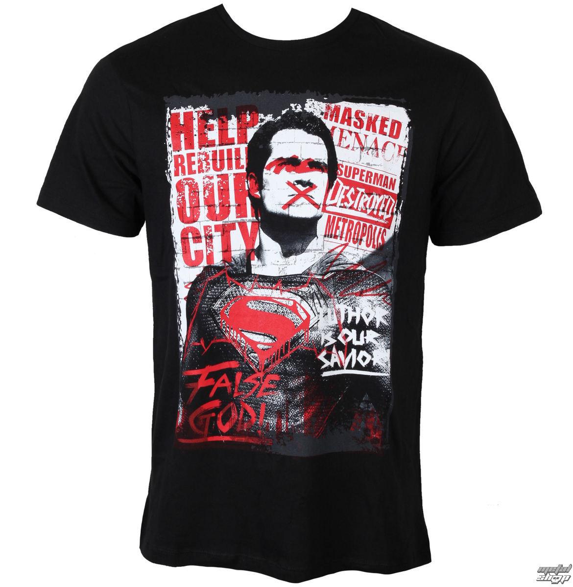 tričko pánske Batman Vs Superman - Superman Anti-Hero - Black - LEGEND - MEBVSSMTS016