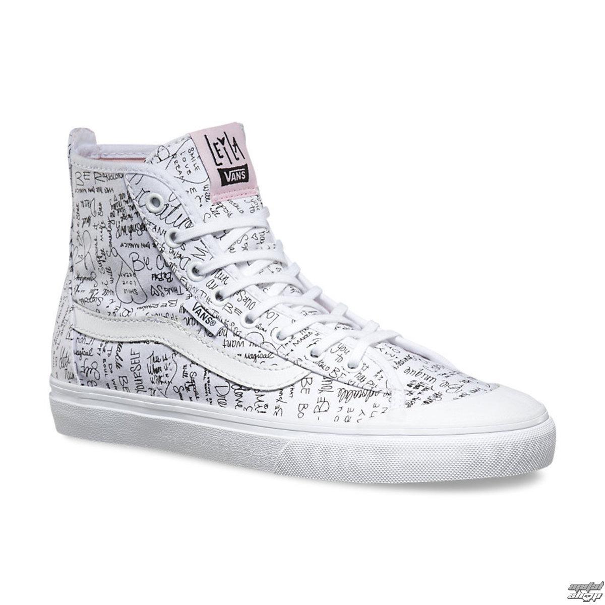 topánky dámske VANS - Dazio-HI (Leila) TR - Wht / Barely Pink - V19NIG1