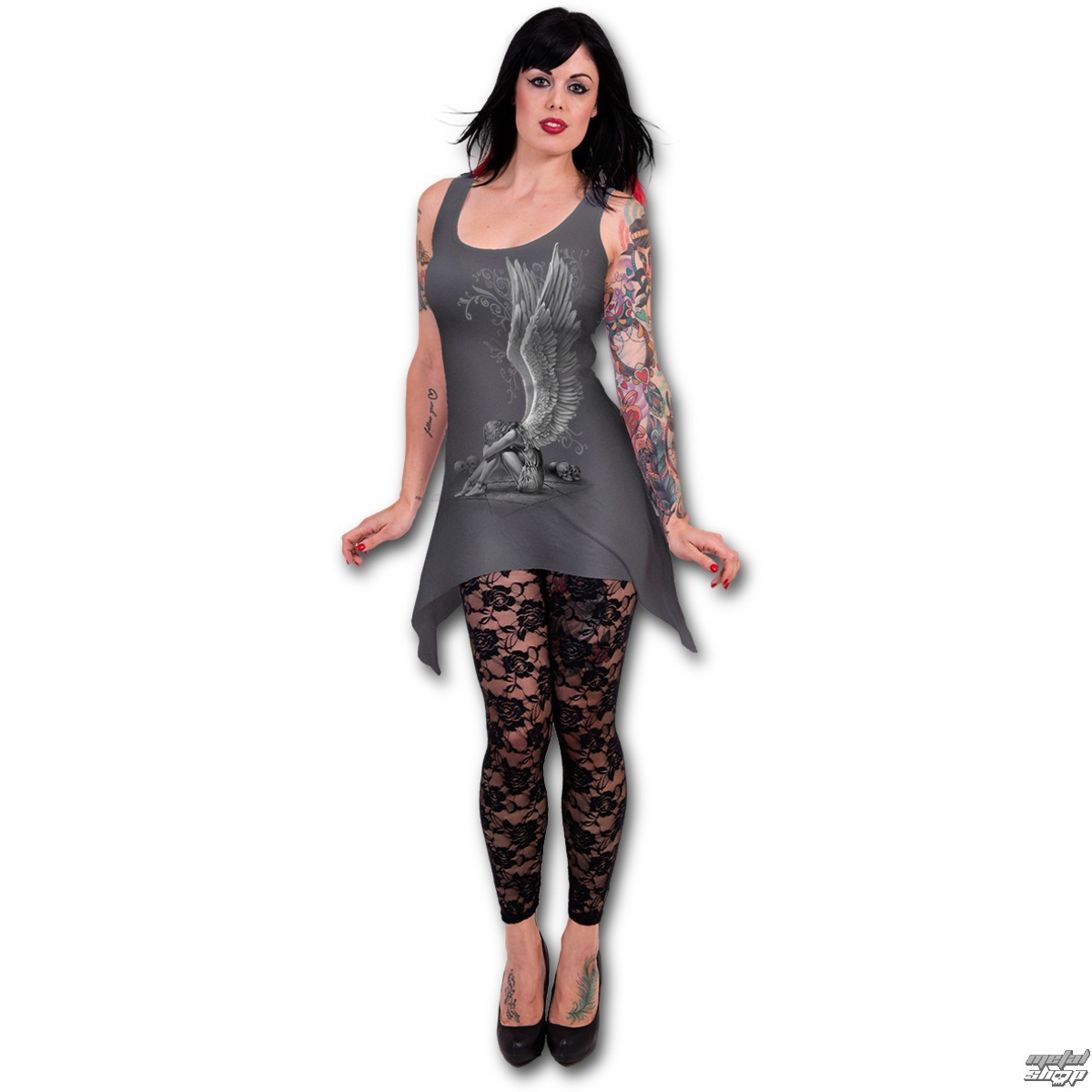 šaty dámske (top) SPIRAL - Enslaved Angel - D024F128 - metalshop.sk e9c0a6f182d
