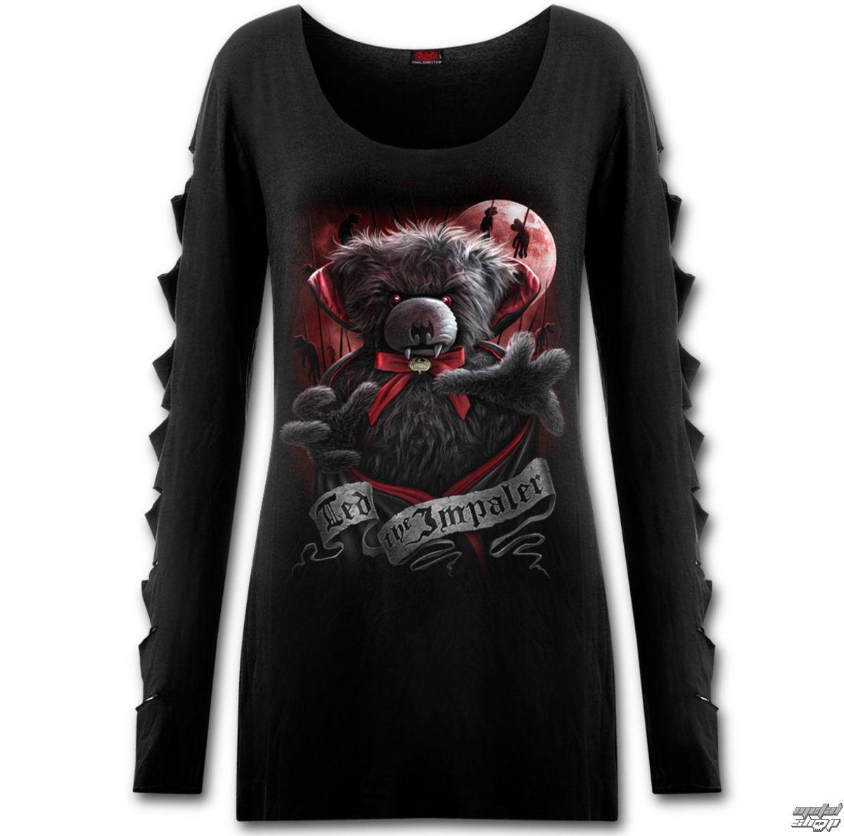 tričko dámske s dlhým rukávom SPIRAL - Ted The Impaler - Teddy Bear - F028F454