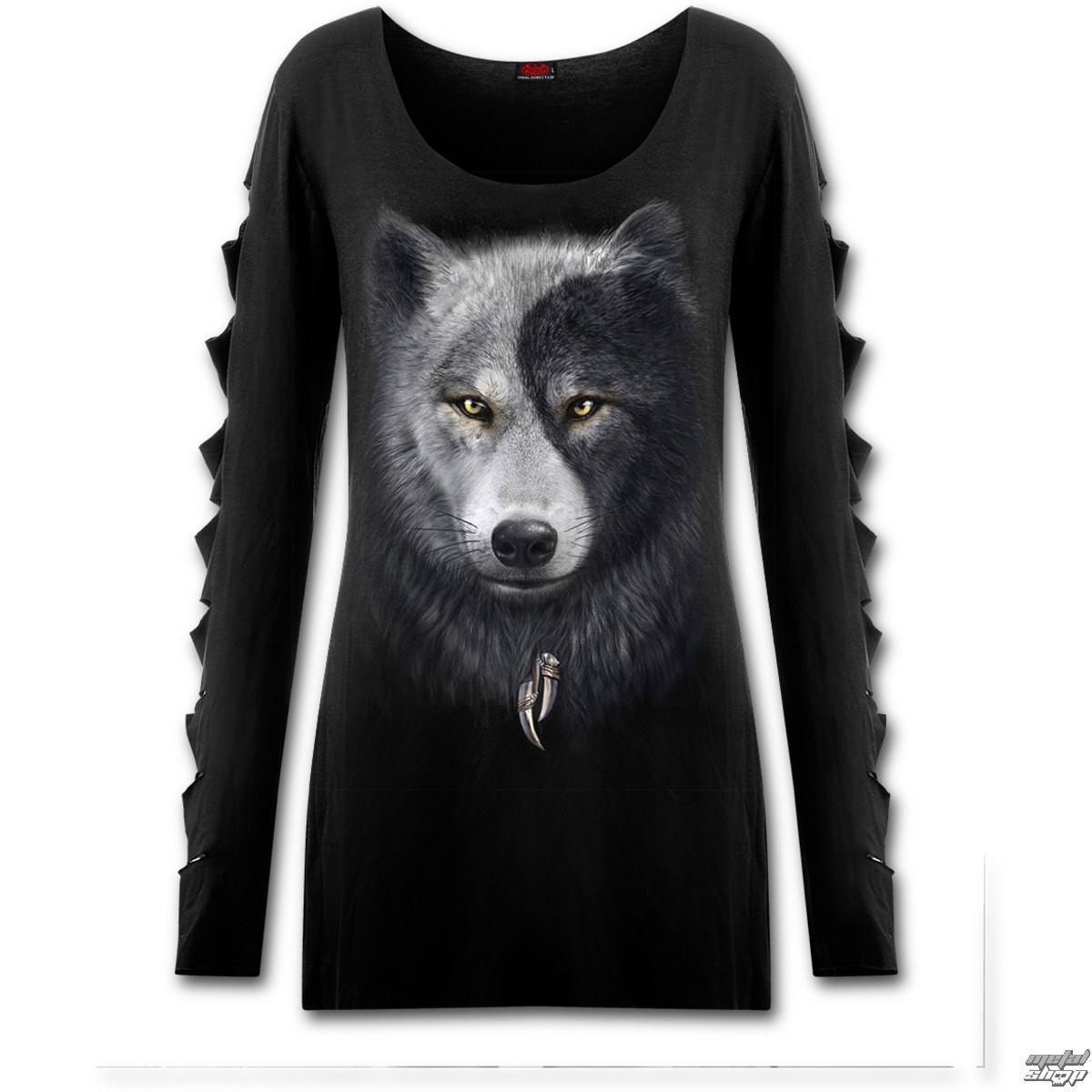 tričko dámske s dlhým rukávom SPIRAL - Wolf Chi - T118F454