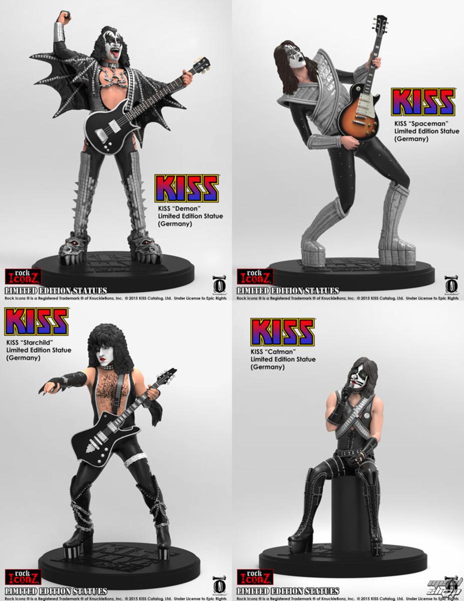 figúrky (set) Kiss - Rock Icon - KBKISS100