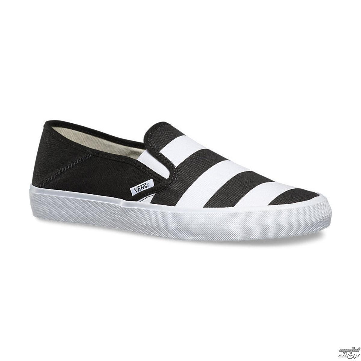 topánky pánske VANS - Slip-On (Stripes) - Black - V19MIV5