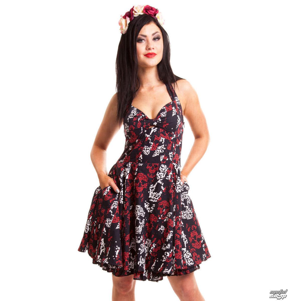 šaty dámske ROCKABELLA - Storm Skull - Black - POI050