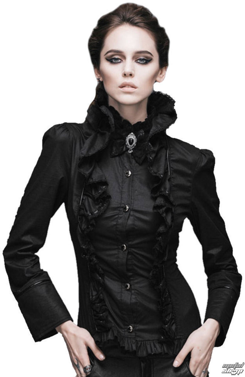košele dámska Devil Fashion - Gothic Ebony - DVSHT00501