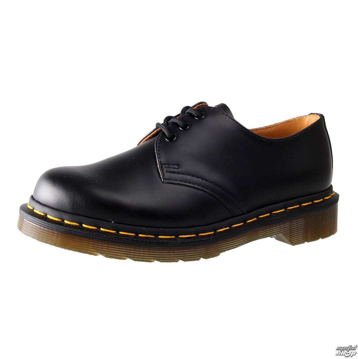 topánky Dr. Martens - 3 dierkové - Black Smooth - 1461 59