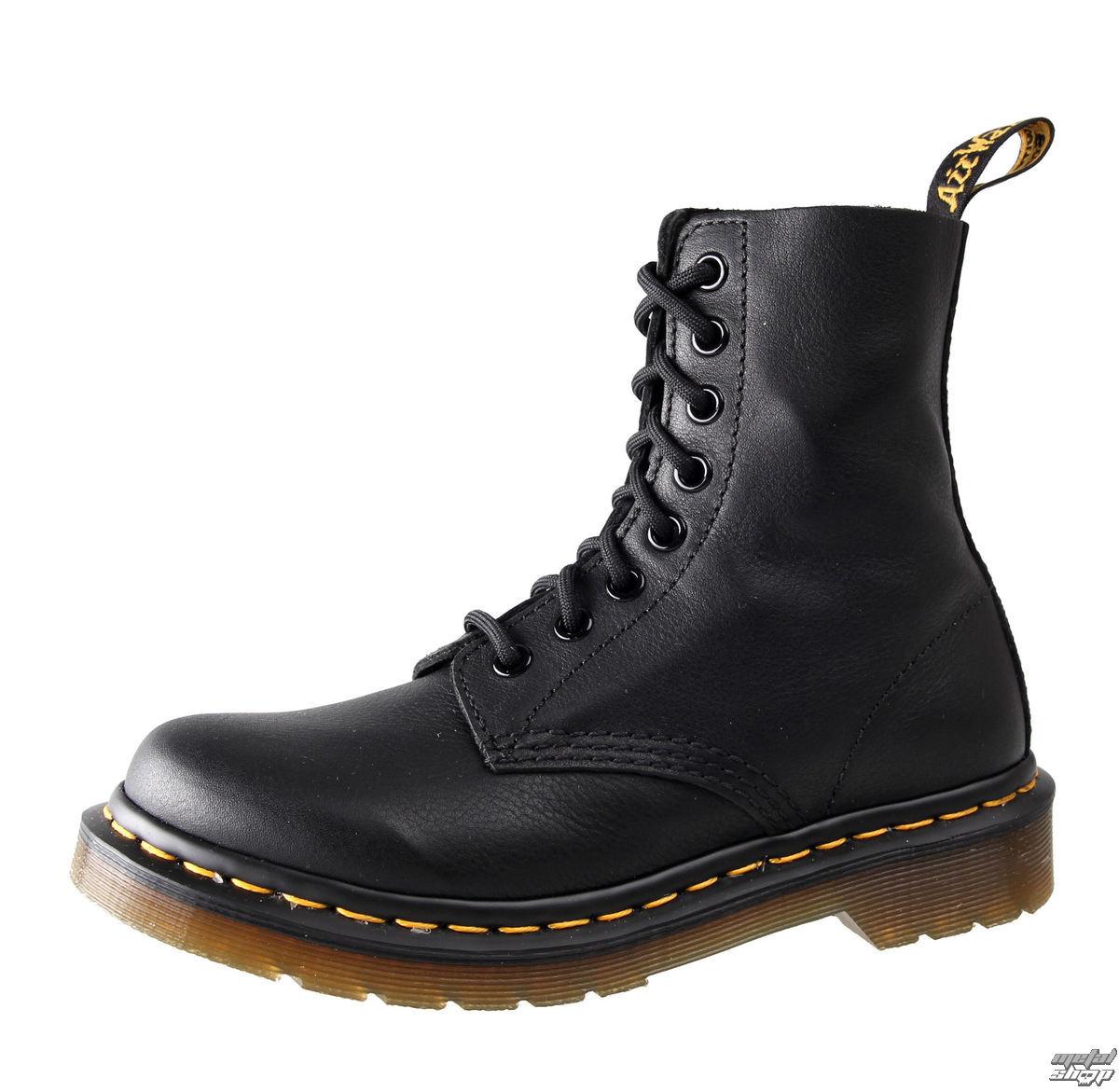 topánky Dr. Martens - 8 dierkové - Pascal Black Virginie - DR002