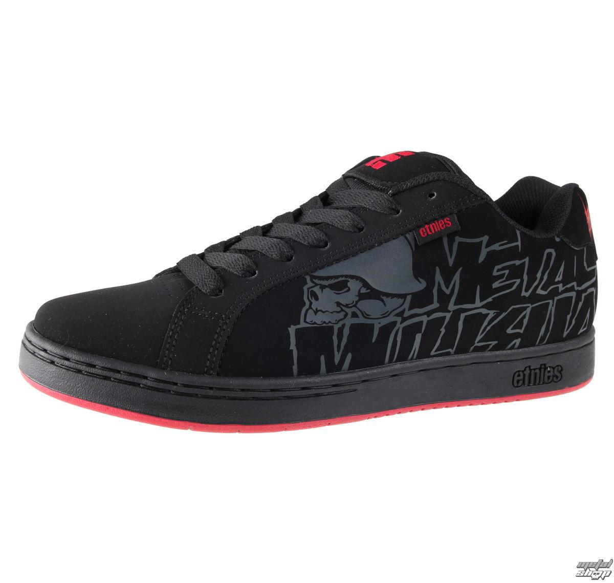 topánky pánske ETNIES - Metal Mulisha Fader - BLACK / BLACK / RED - 10031103