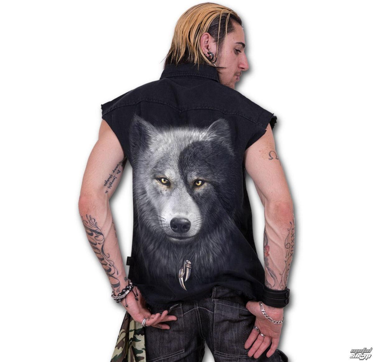 košele pánska bez rukávov SPIRAL - Wolf Chi - Black - T118M602