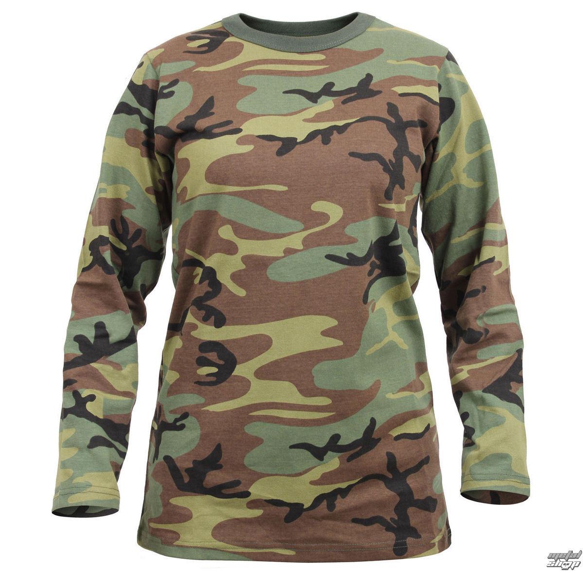 tričko dámske s dlhým rukávom ROTHCO - WOODLAND CAMO - 3678