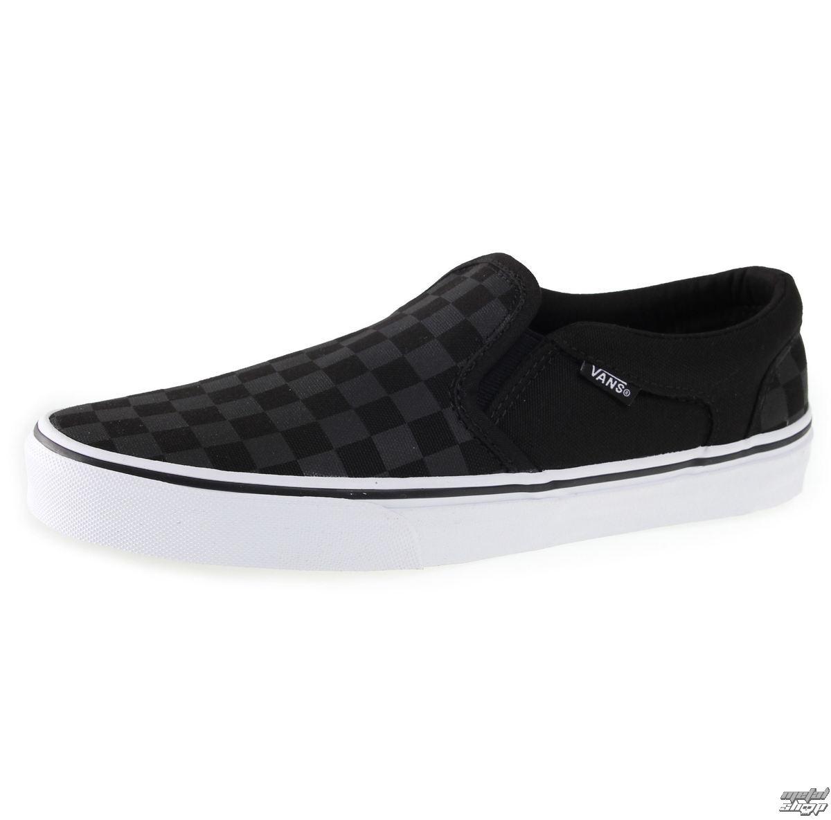 topánky pánske VANS - Aher (Chkrs) - Blk/Blk - VSEQ542