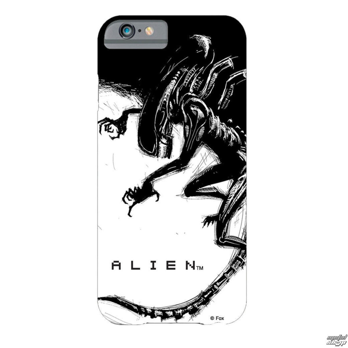 kryt na mobil Alien - iPhone 6 - Xenomorph Black & White Comic - GS80223