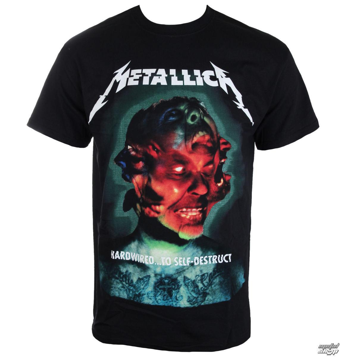 tričko pánske Metallica - Hardwired Album Cover - ATMOSPHERE - RTMTLTSBHCO
