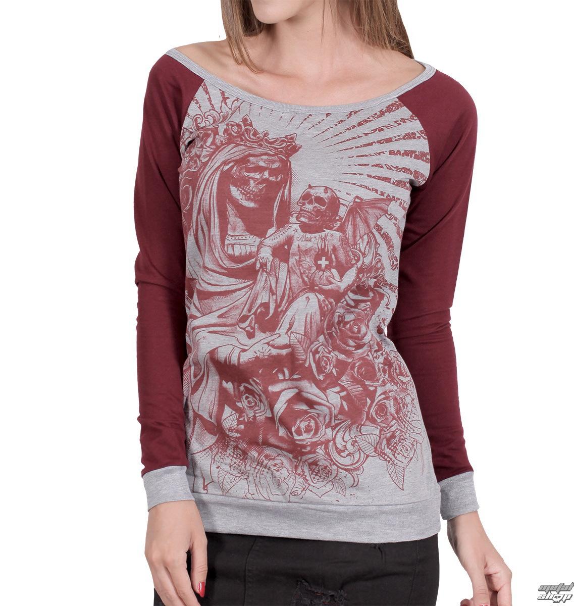396c10aff5d6 tričko dámske s dlhým rukávom HYRAW - Black Santa - HY156 - metalshop.sk