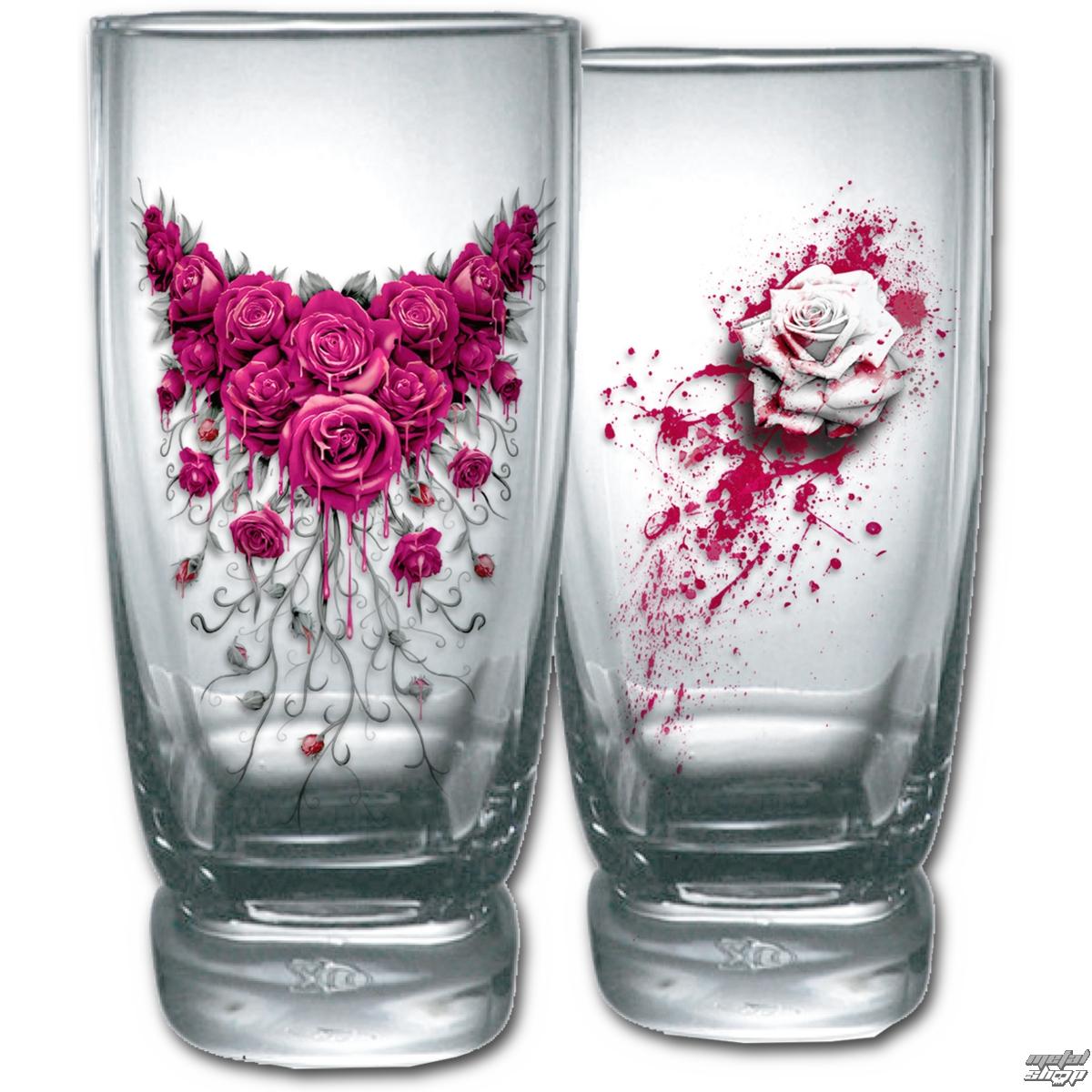 poháre (sada 2ks) SPIRAL - BLOOD ROSE - K018A001