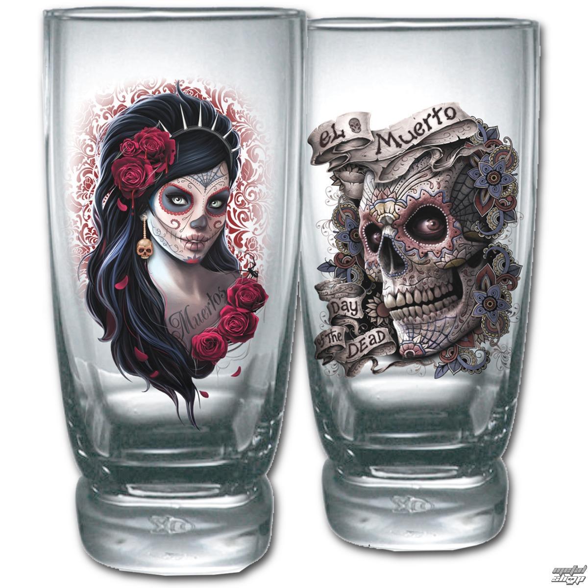 poháre (sada 2ks) SPIRAL - DAY OF THE DEAD - K026A001