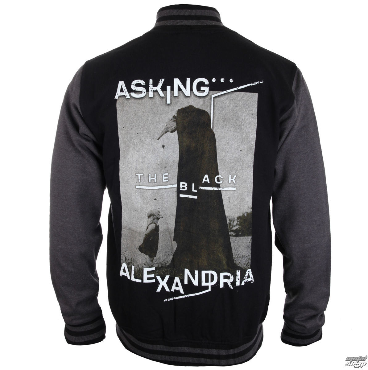 mikina pánska (baseball) Asking Alexandria - The Black Original Art - PLASTIC HEAD - PH9857BBSJ