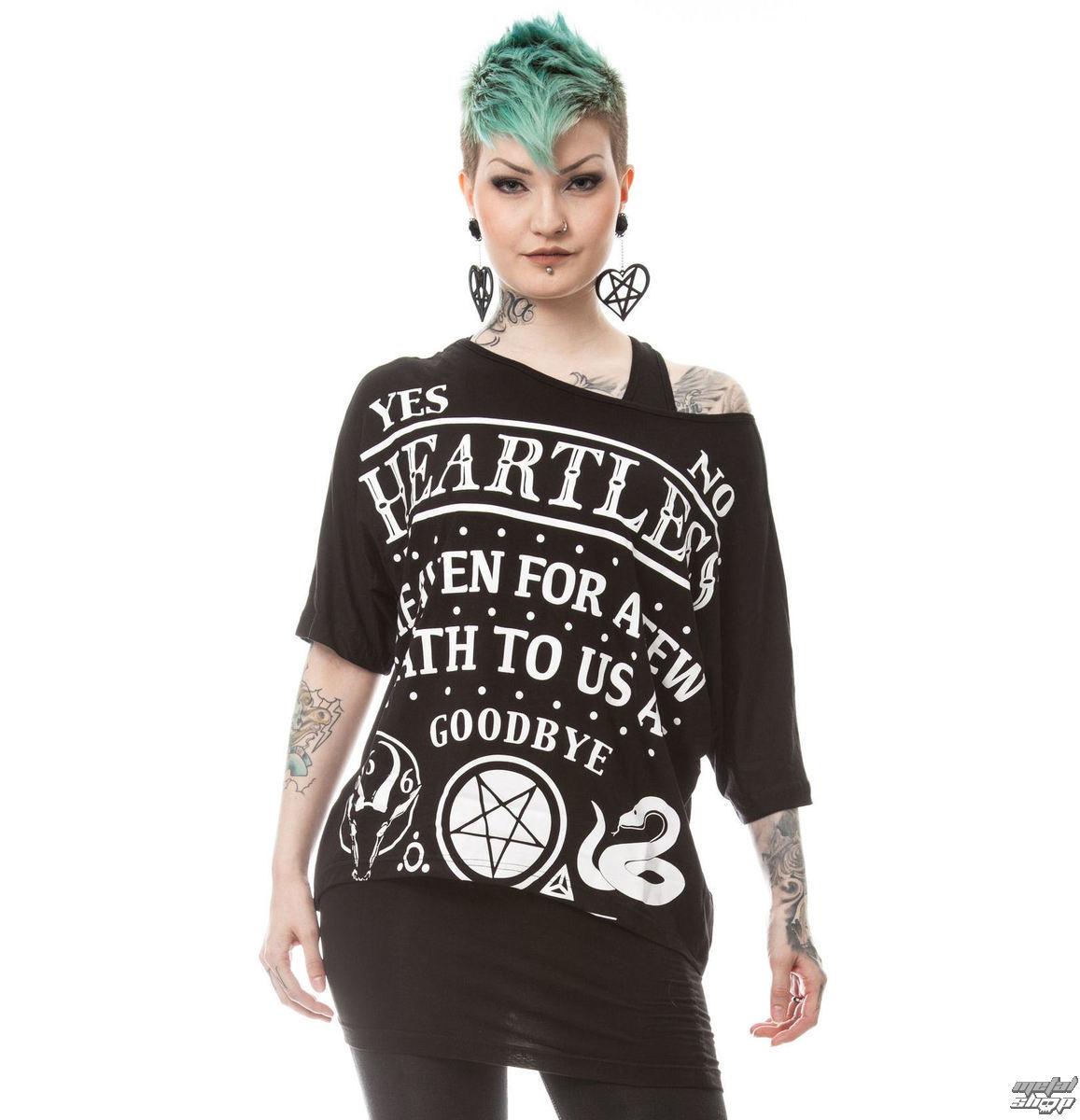 tričko dámske (tunika) HEARTLESS - DEATH TO ALL - BLACK - POI167