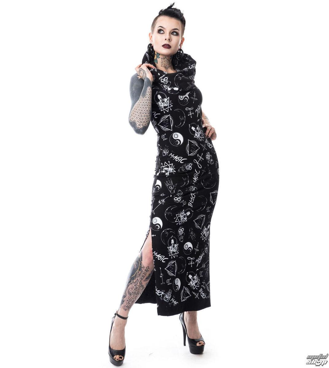šaty dámske HEARTLESS - BLACK MAGIC PENTAGRAM - BLACK - POI159