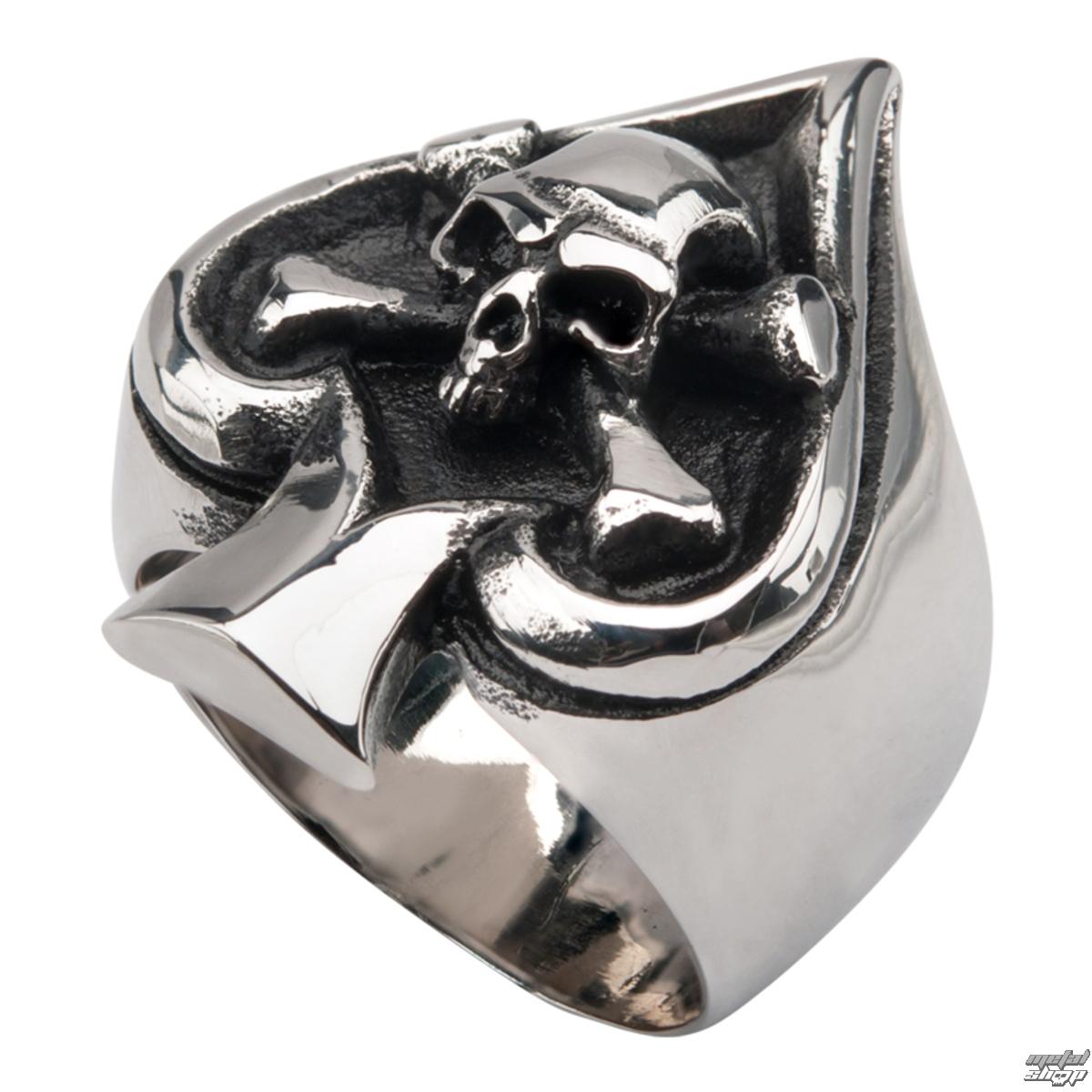 prsteň INOX - SKULL SPADE - FR0011