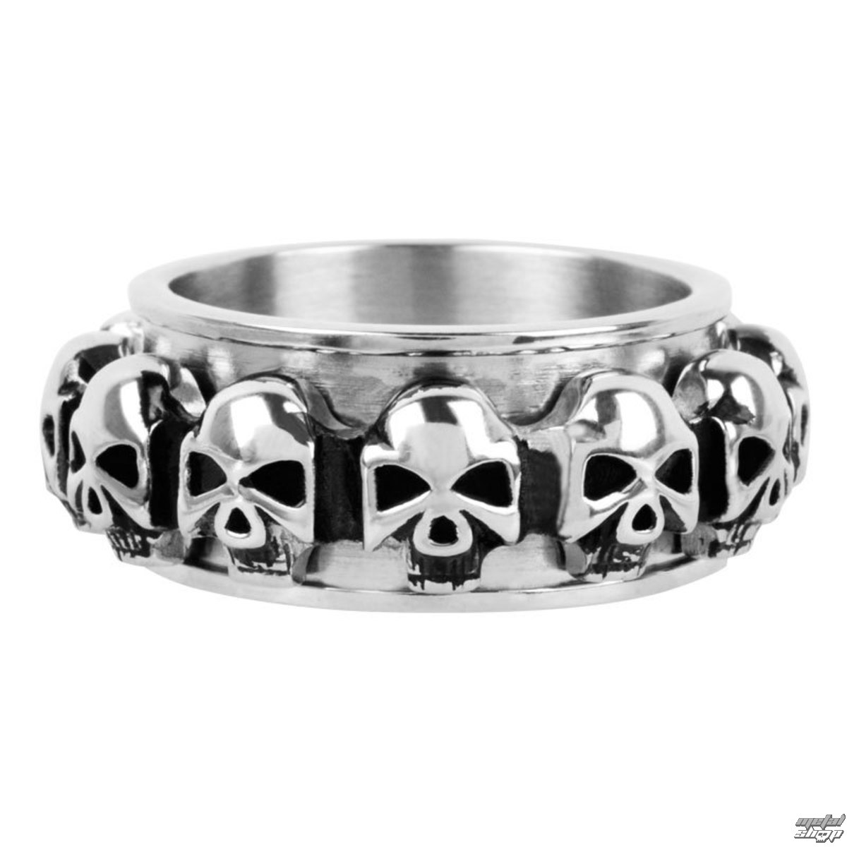 prsteň INOX - skulls around - FR1046
