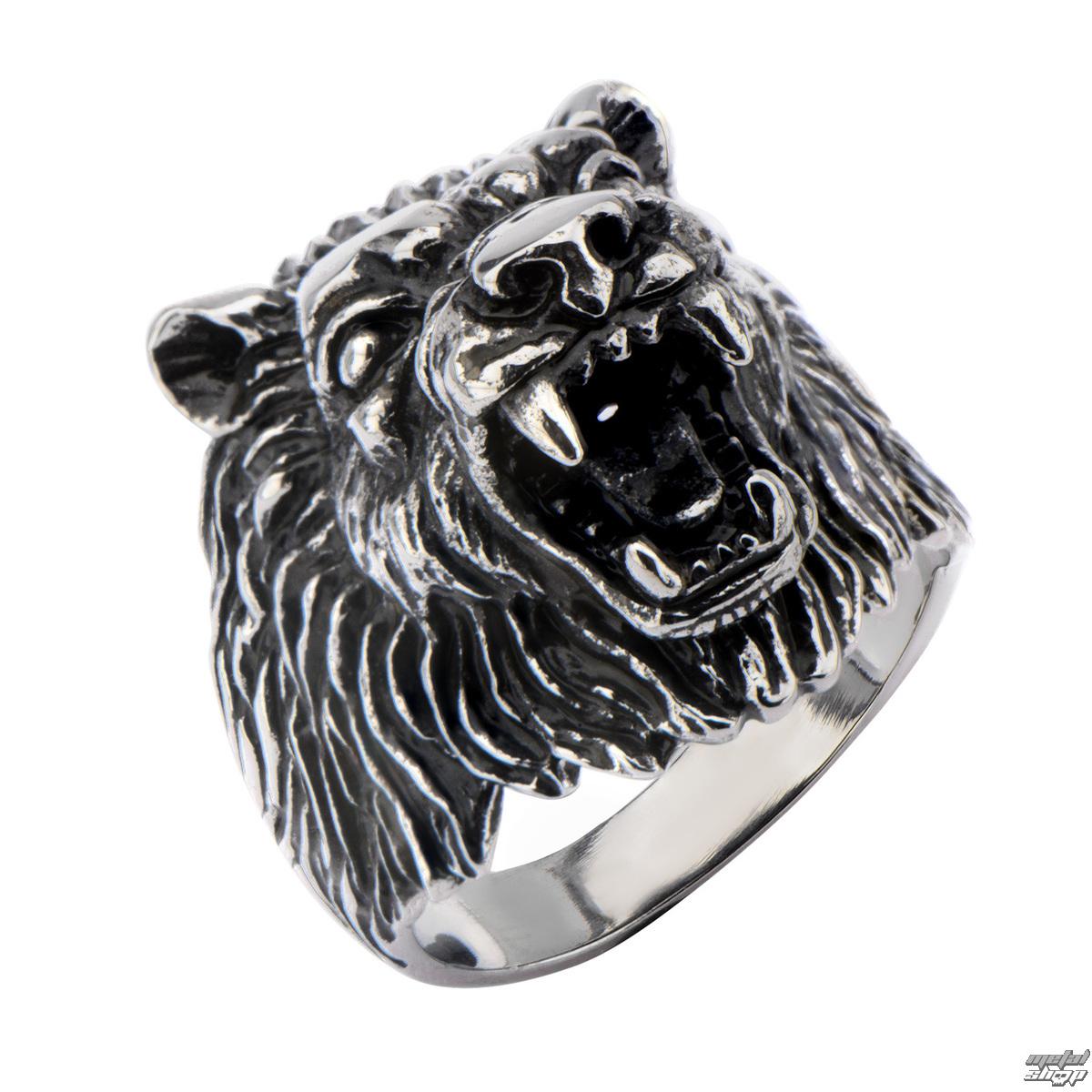 prsteň INOX - BIG WOLF BLACK - FR1271