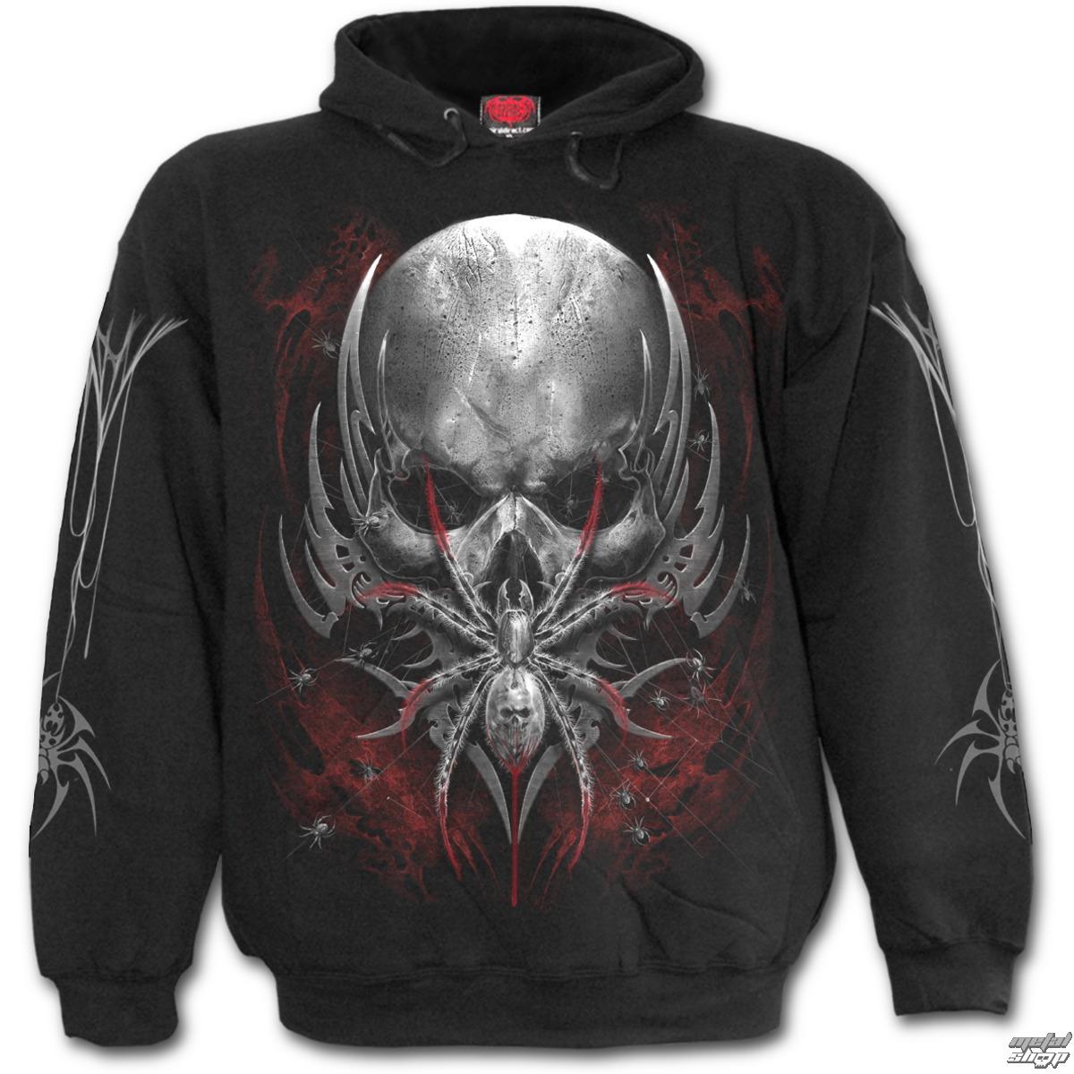 mikina pánska SPIRAL - SPIDER SKULL - Black - D073M451