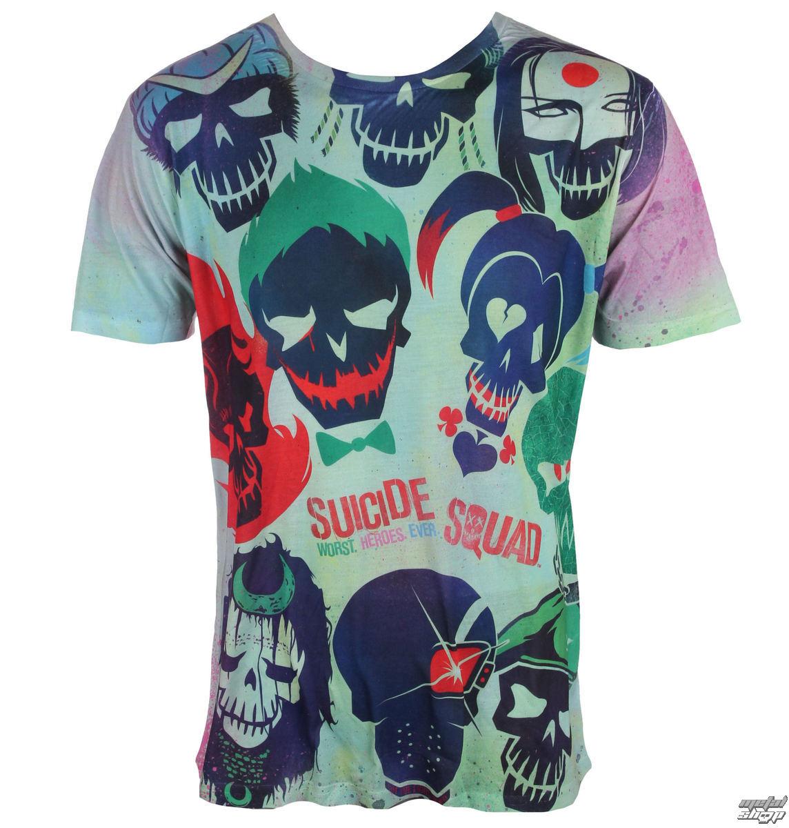 tričko pánske Suicide Squad - Poster - White - LIVE NATION - PE13455TSWP