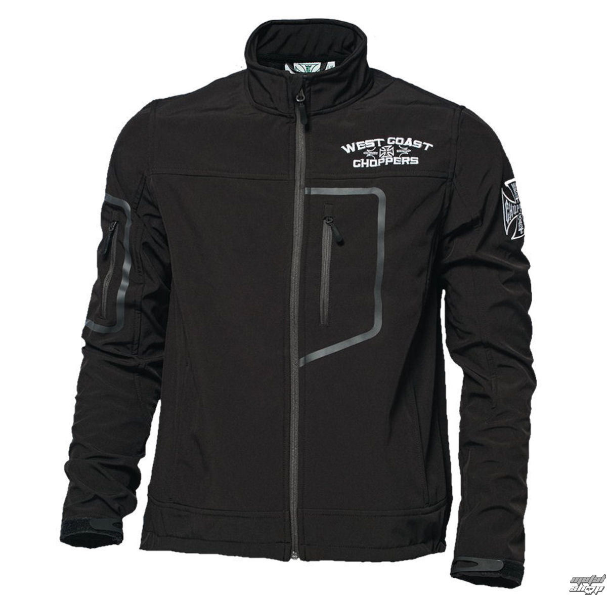 bunda pánska (softshell) West Coast Choppers - OG CROSS - BLACK - WCCJS024ZW