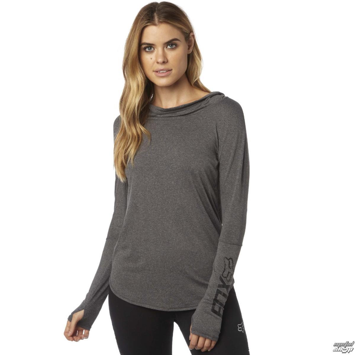 8382f9da92 tričko dámske s dlhým rukávom (mikina) FOX - Contoured - HeatherGrey ...