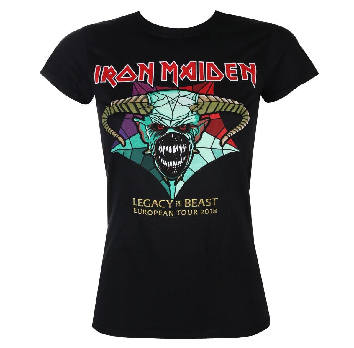 tričko dámske Iron Maiden - Legacy of the Beast European Tour 2018 - ROCK OFF - IMTEE72LB