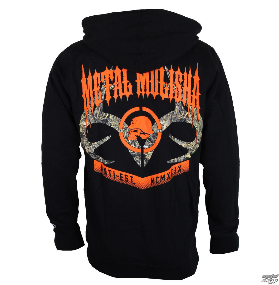mikina pánska METAL MULISHA - DUSK - BLK - BLK_SP7522000.01