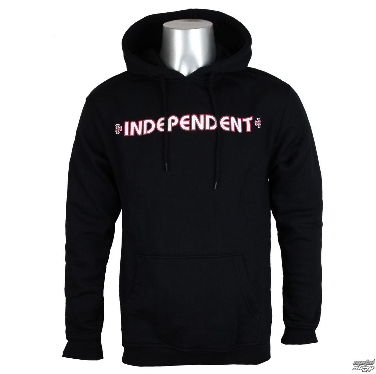 mikina pánska INDEPENDENT - Bar Cross Black - INAHDY-021 BLACK