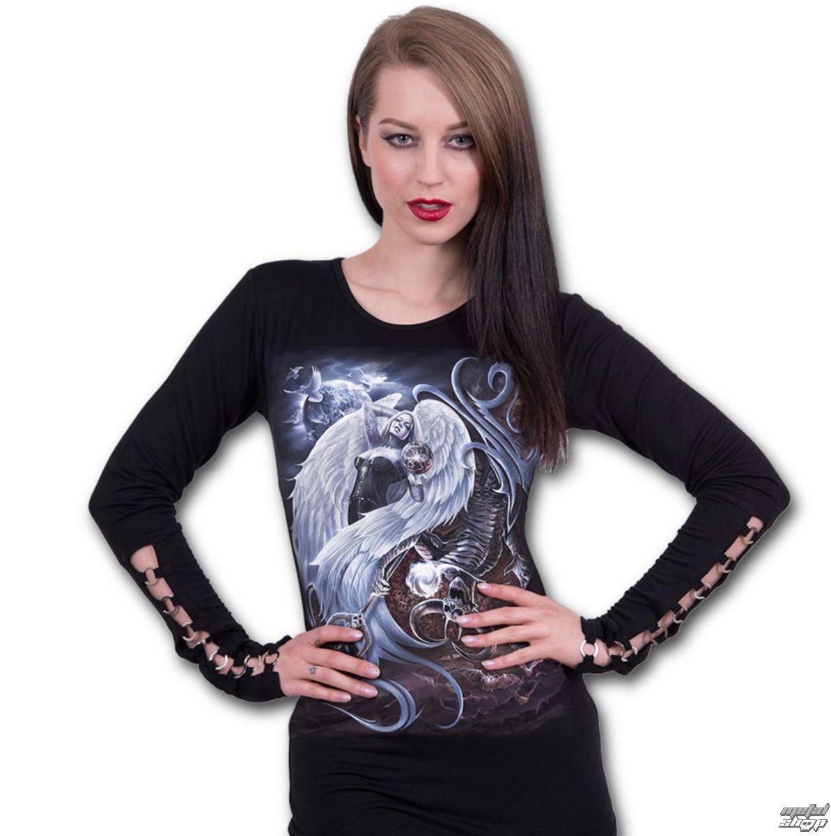 tričko dámske s dlhým rukávom SPIRAL - YIN YANG - L032F459