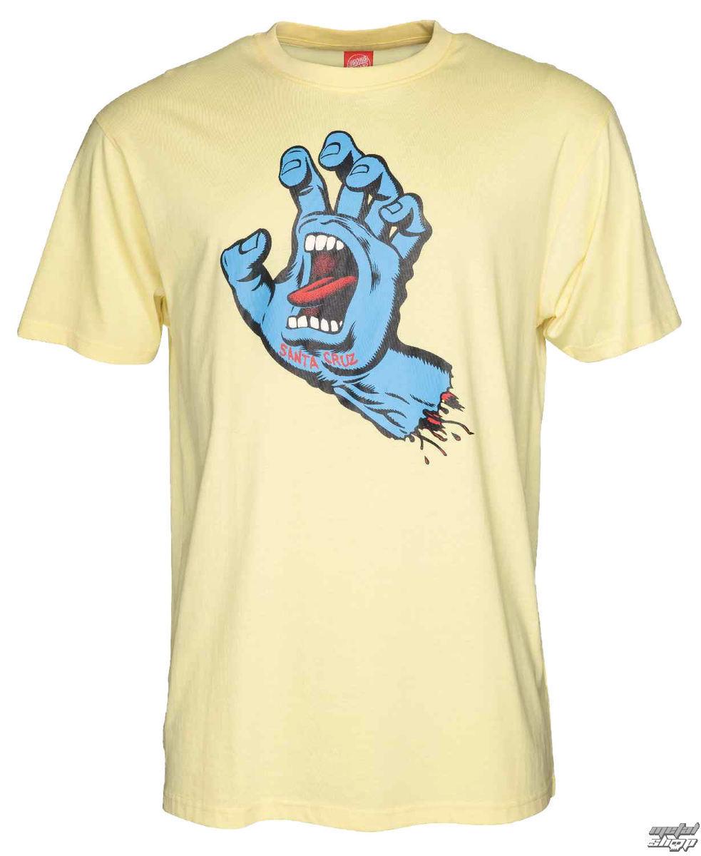 tričko pánske SANTA CRUZ - Screaming Hand - SCATEE-185 LEMON