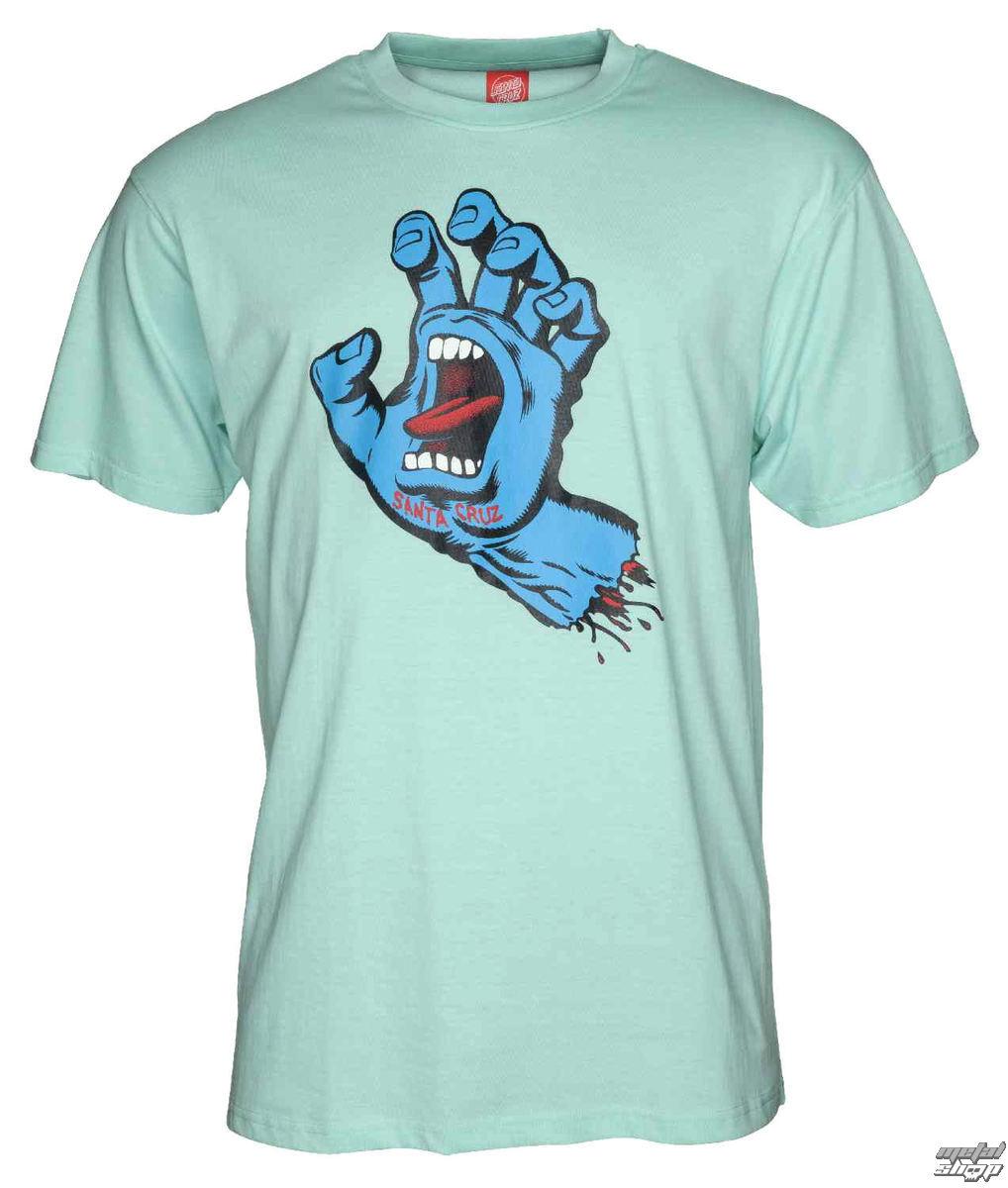 tričko pánske SANTA CRUZ - Screaming Hand - SCATEE-185 AQUA