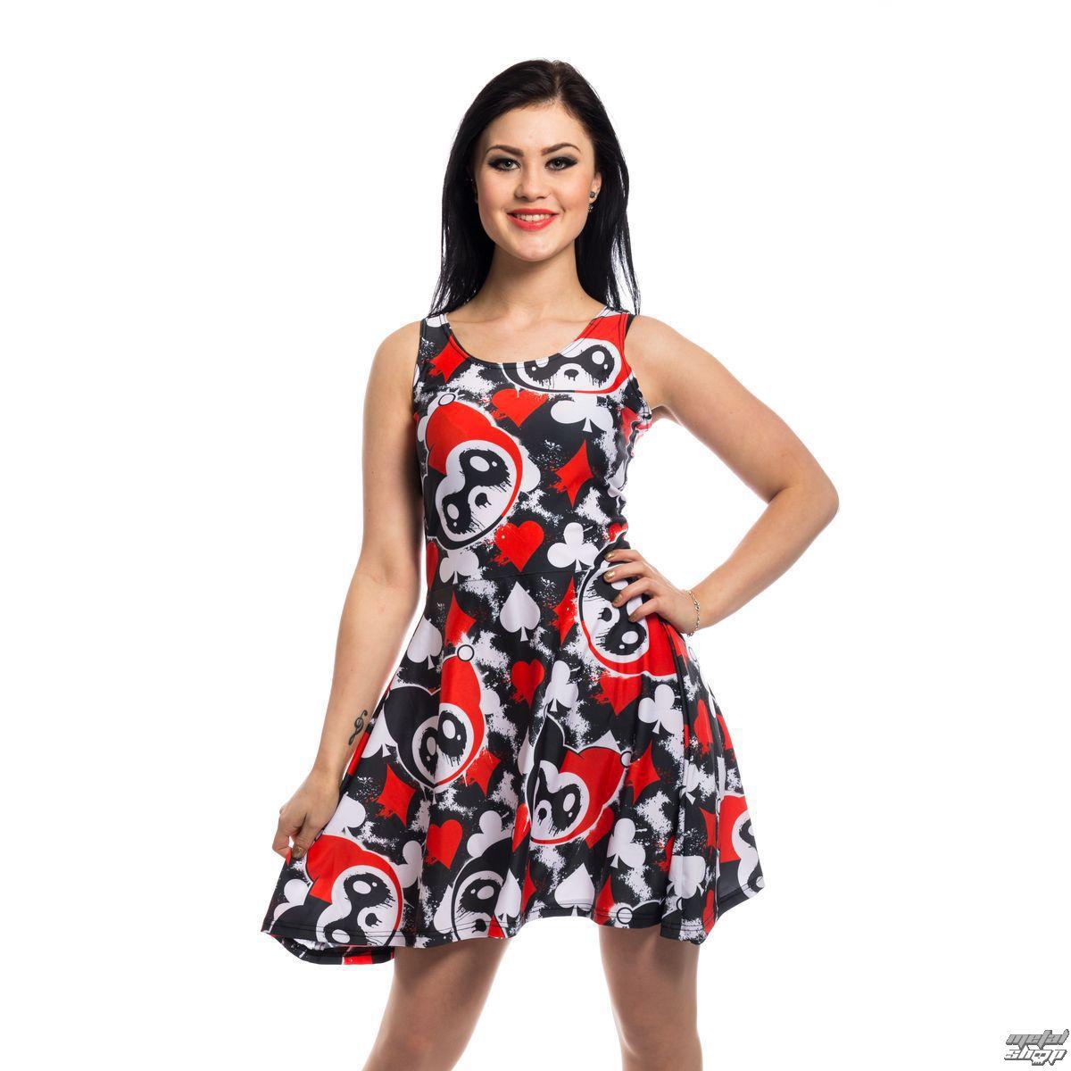 šaty dámske KILLER PANDA - CARD - BLACK/RED - POI408
