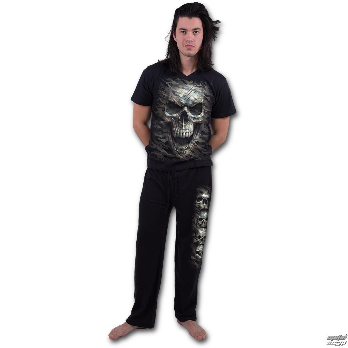 pyžamo pánske SPIRAL - CAMO-SKULL - T141M631