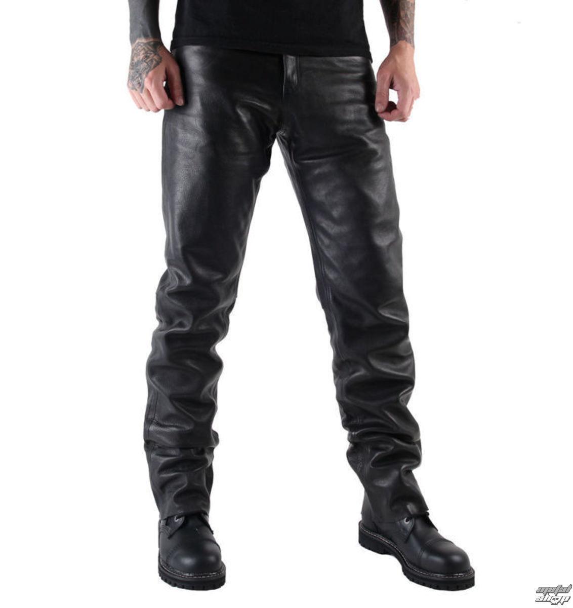 nohavice kožené pánske MOTOR - MOT004