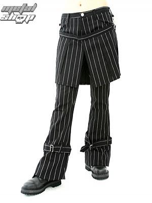 nohavice dámske Aderlass - Skirt Pants Pin Stripe (Black-White) - A-1-13-050-01