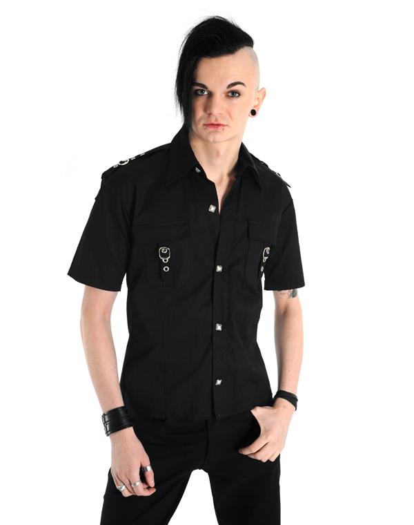 košeľa pánska Aderlass - Lock Shirt Denim Black - A-3-70-001-00