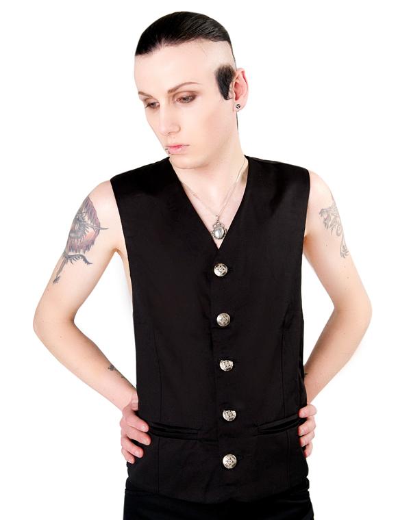 vesta pánska Aderlass - Dark Vest Denim Black - A-3-86-101-00
