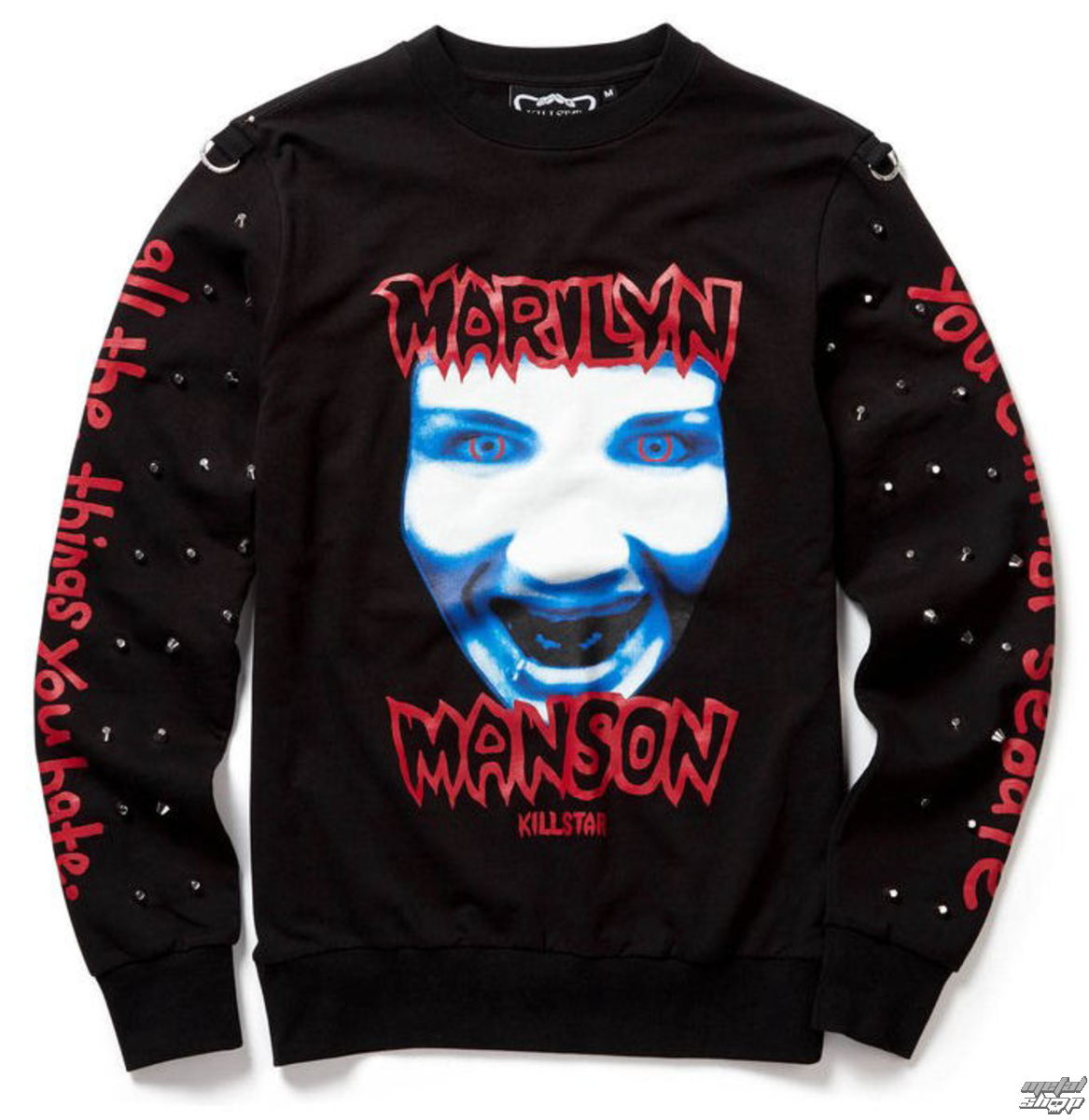 mikina (unisex) KILLSTAR - Marilyn Manson - All the Things You Hate - Black