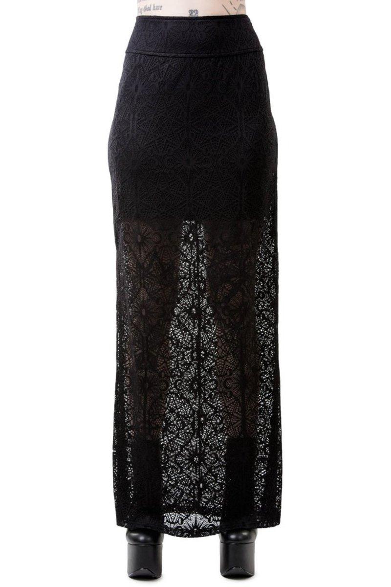 sukňa dámska KILLSTAR - ANGELINA - BLACK - KSRA00141