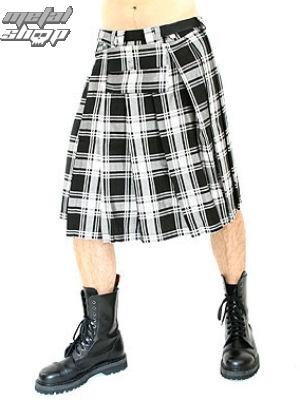 kilt Black Pistol - Short Kilt Tartan Black-White - B-2-10-060-01