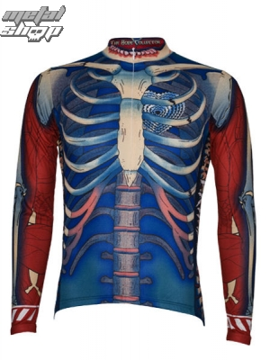 dres cyklistický s dlouhým rukávem PRIMAL WEAR - Bone Collector - BCJERLS