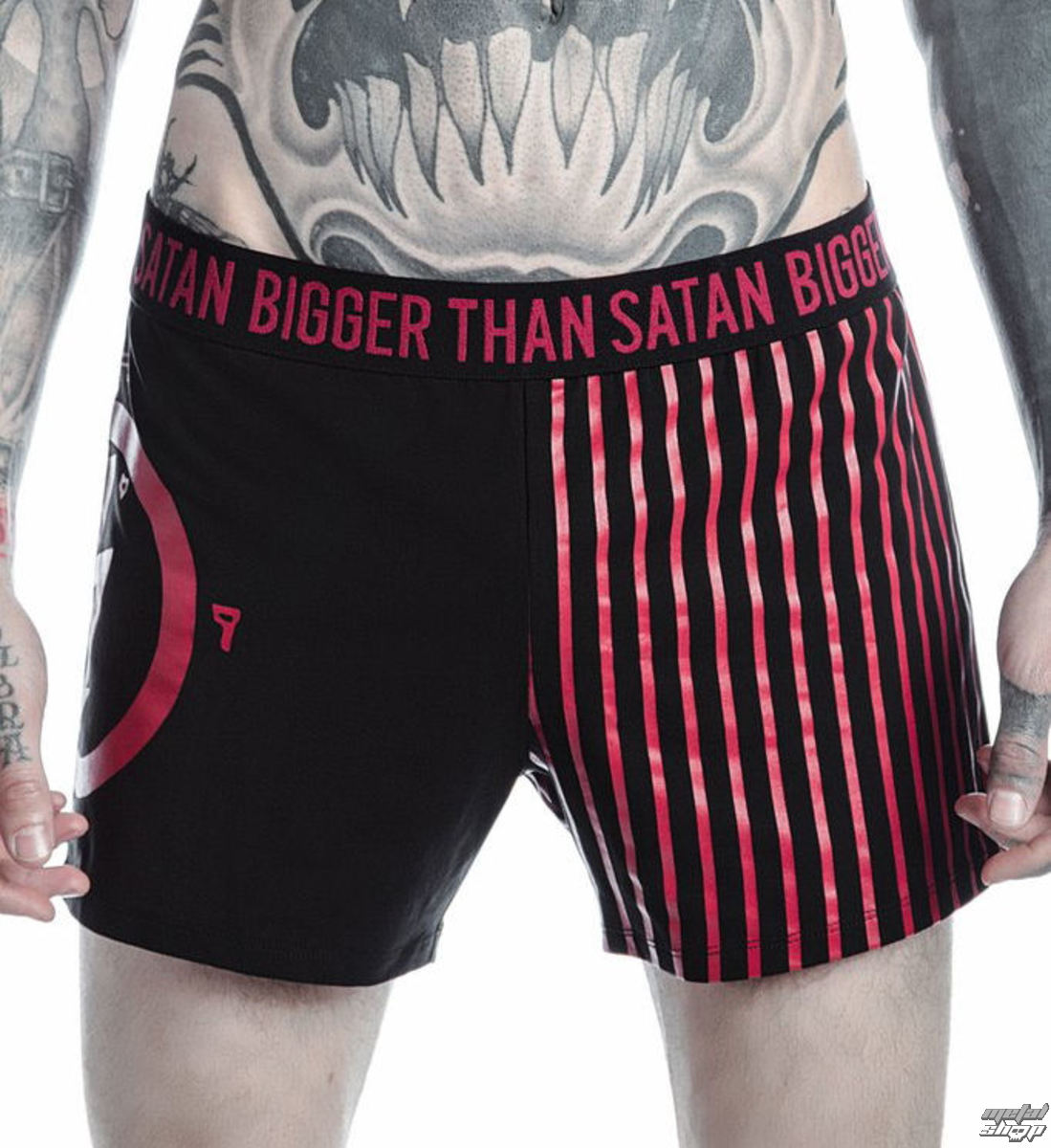 boxerky pánske KILLSTAR - MARILYN MANSON - Bigger Than Satan - Black