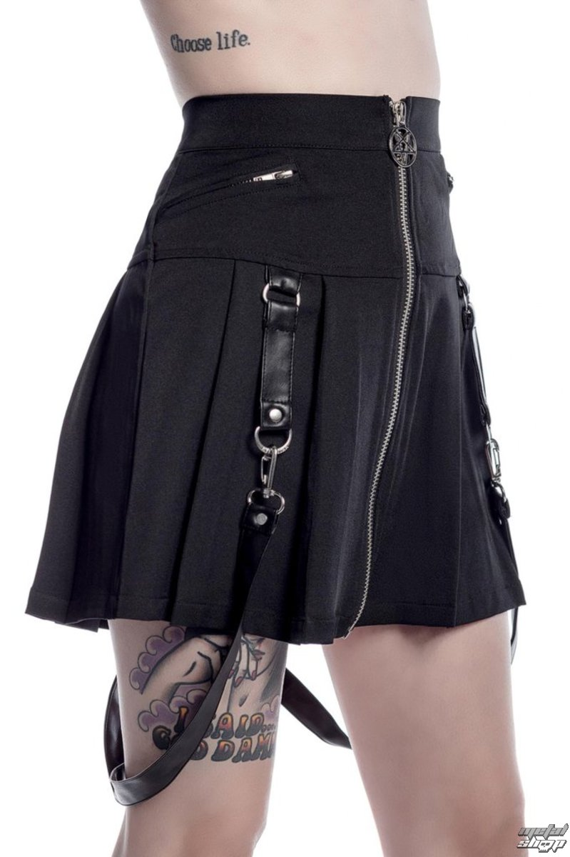sukňa dámska KILLSTAR - Blaire Bitch - Black - K-SKR-F-2624