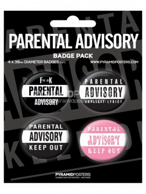 odznaky - Parental Advisory - BP80090 - Pyramid Posters