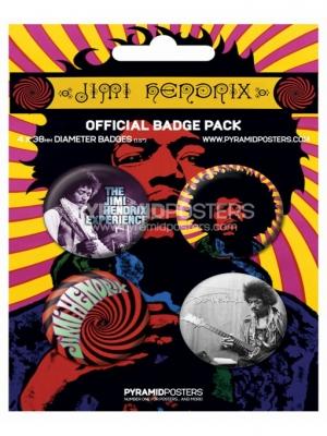 odznaky - Jimi Hendrix - BP80100 - Pyramid Posters